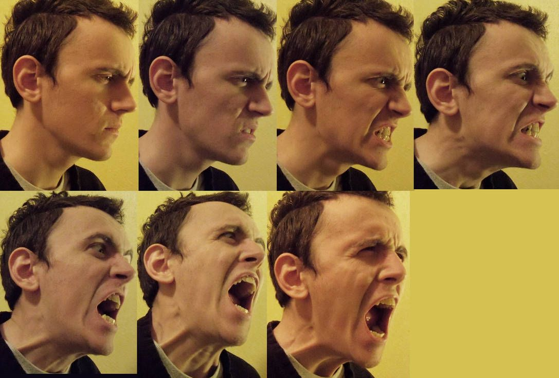 Anger Reference Side By Https Www Deviantart Com Masochisticcannibal On Deviantart Face Expressions Emotion Faces Facial Expressions