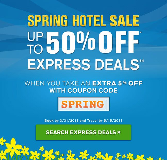 Priceline Spring Hotel Sale Coupon Save Up To 50 With No Bidding Plus 5 Cashback Hotel Sales Travel Gift Cards Rental Car Discounts