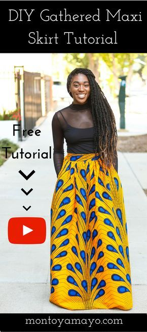DIY Gathered Maxi Skirt Tutorial #africanfashionankara