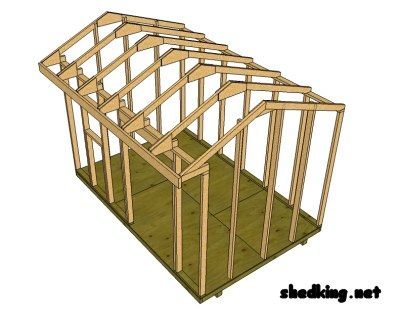 How to build a shed roof saltbox style shed roof designs for Saltbox style shed