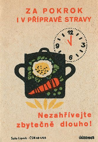 Vintage Czechoslovakian matchbox labels
