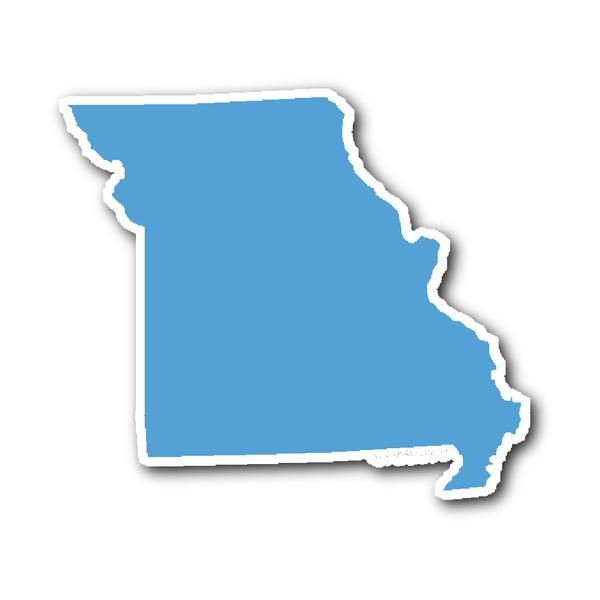 Missouri State Shape Sticker Outline Carolina Blue State Shapes Missouri State Missouri