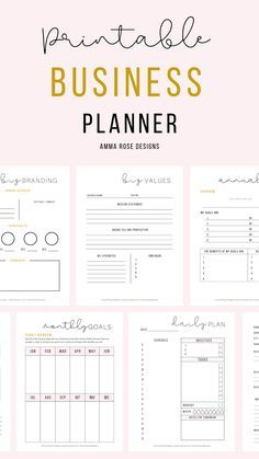 This printable Daily Business Planner is made to help you get crystal-clear on your priorities and manage your time like a pro! Designed for stress-free daily planning and more time living life simply. This tool contains all of the key planning sheets you'll need to organize your biz, develop a consistent brand, shorten your to-do list, and so much more! #businessplan #businessplanner #productivity #timemanagement #businesstips #businessresources