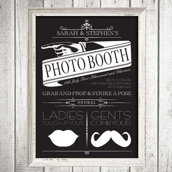 Wow dissenyant me pinterest event ideas and photo booth vintage custom photo booth sign printable file victorian from i do it yourself solutioingenieria Gallery