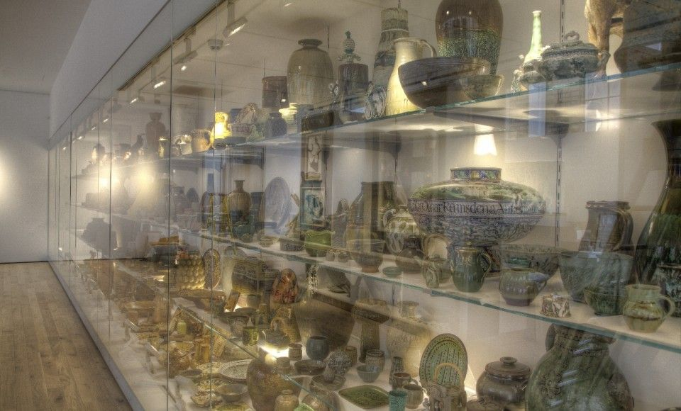 The Wall of Pots at CoCA (the Centre of Ceramic Art) at York Art Gallery.