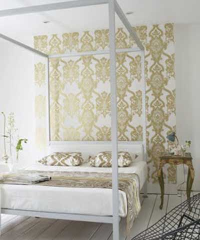 Ideas para decorar un dormitorio con papel pintado y - Decorar papel pintado ...