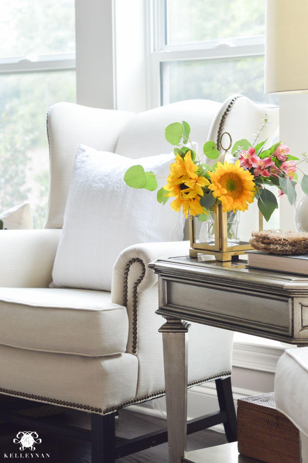 Floral Arrangement Ideas Using Lanterns | Wingback chairs, Floral ...