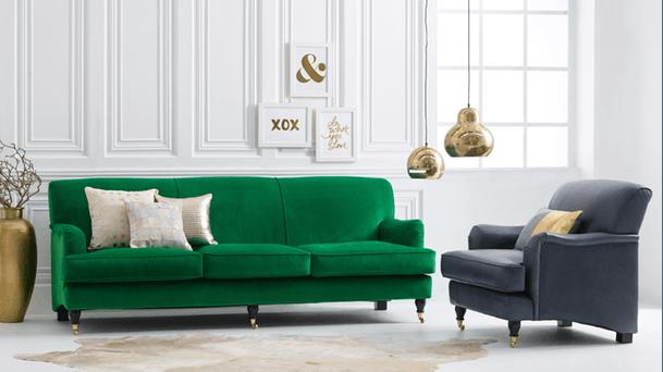 Charmant Indigo Classic Sofa | Domayne