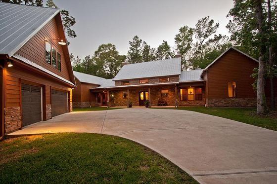 Modern Design Ranch Style Home Elevation Photo Barn