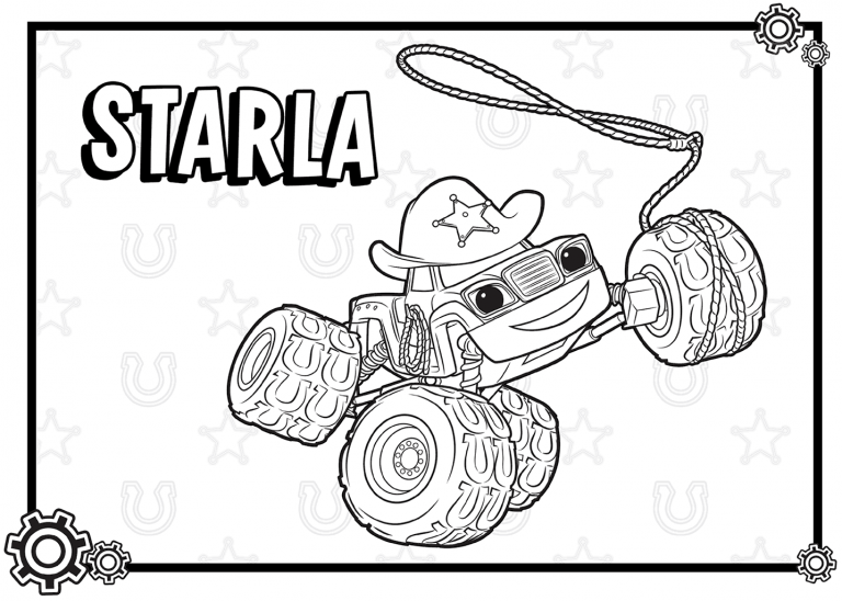 Blaze And The Monster Machines Coloring Pages Easy Collection