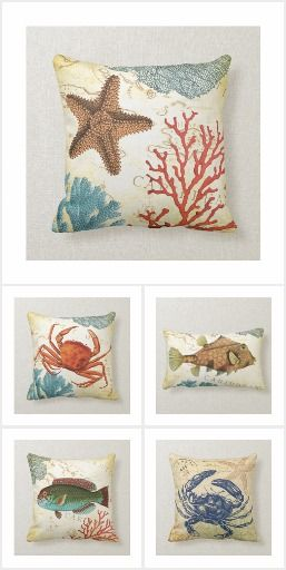 Vintage Nautical Seaside Collage Collection - Liven up your summer crab boil and BBQ with this collection of nautical vintage seaside decor. #zazzle #seaside #vintage #crab #tropical #fish #starfish #whale #collage #sealife #sea #artprint #gift #giftideas #design #wedding #unique #home #homedecor #decoration #wallart #pillow #curtain #poster #doormat #bathmat #pouf #clock #bedroom #bathroom #livingroom #blanket #duvet