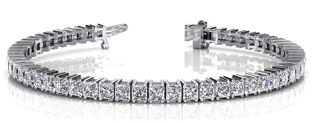 We just created this breathtaking princess cut tennis bracelet in