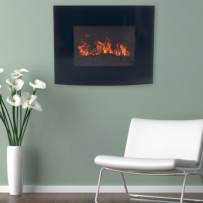 Trademark Fireplaces 80 Ef455s Curved Glass Electric Wall Mount