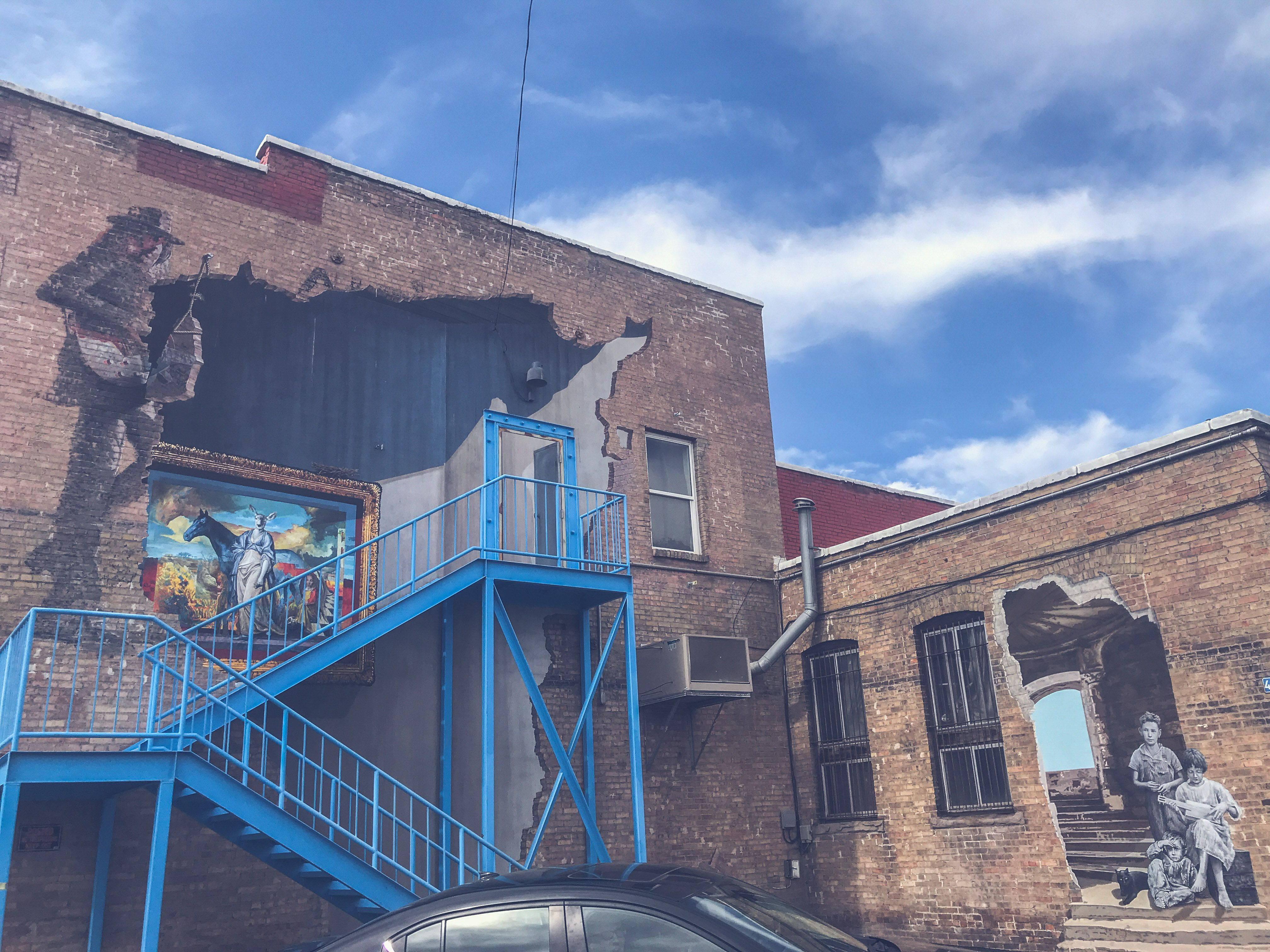 Positively Fourth Street mural. This building was built in