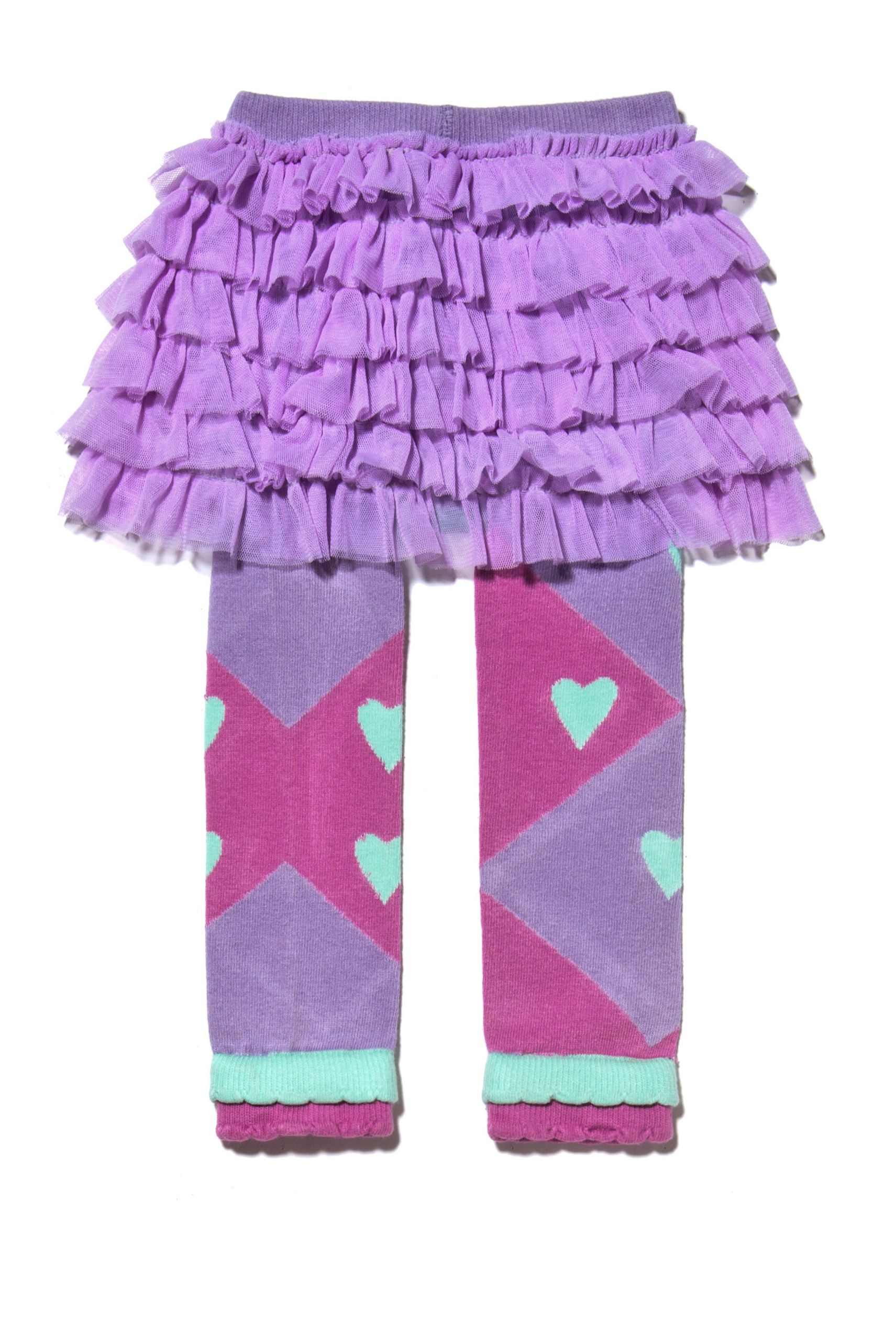 f1d4440a51d69 Luna Leggings Style | The Spring Heart Colorblock footless tights with  attached tutu skirt! Get