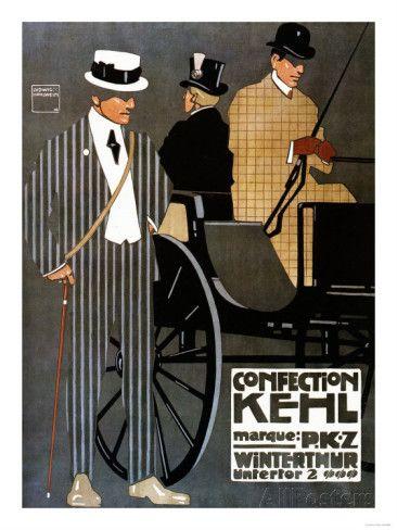 Switzerland  Confection Kehl Gentlemen Clothing Advertisement Poster is part of Clothes Illustration Poster -