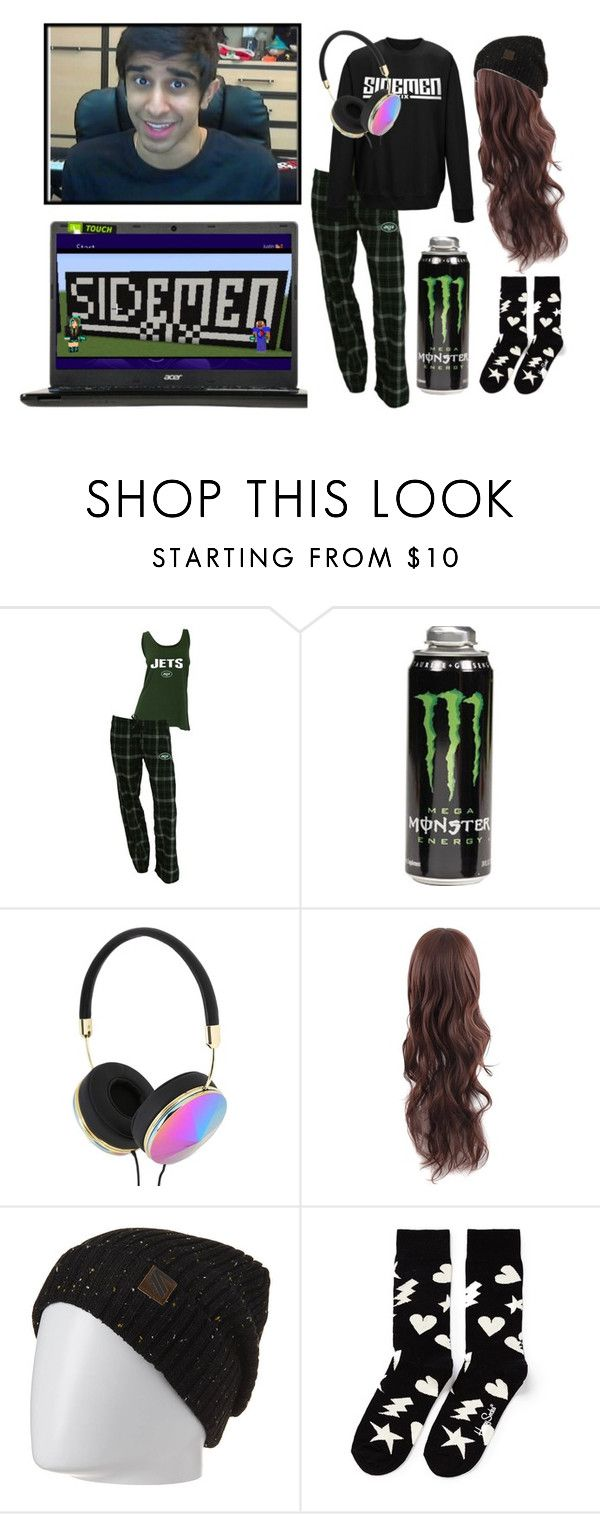 """""""Late Night Minecraft Session With Vik..."""" by kaykay-mara ❤ liked on Polyvore featuring Concepts Sport, Frends, Analog, Happy Socks, sidemen and vikkstar123"""