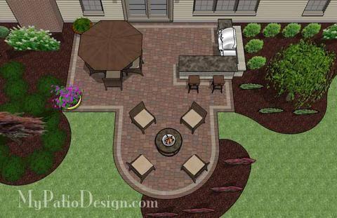 Creative Backyard Patio Design with Grill Station-Bar 2 #backyardpatiodesigns