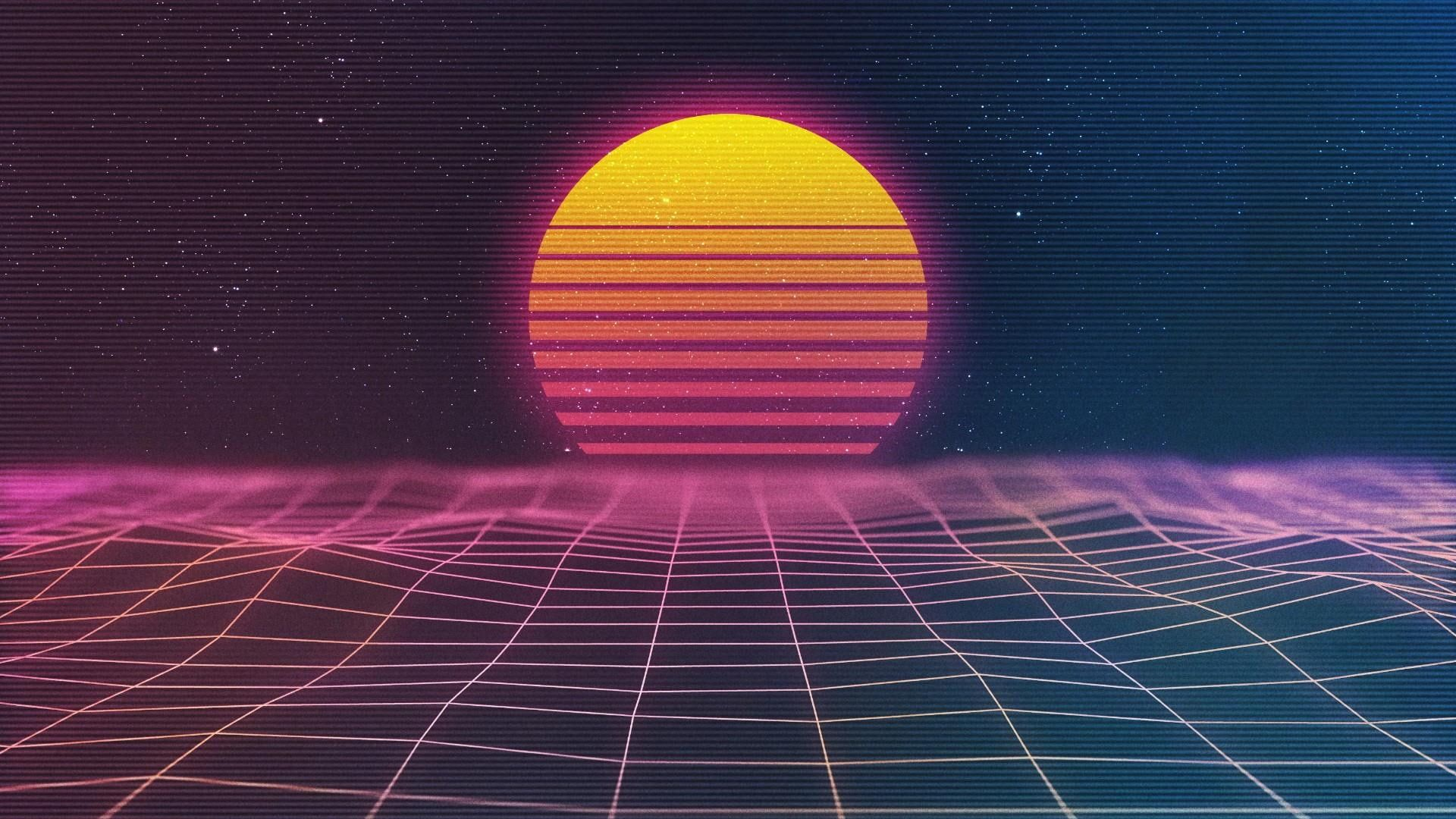 Neon Sun Sky Energy Space Retrowave Syntwave Style Design Digital Art Vaporwave Retro Retro Style Sphere Vaporwave Wallpaper Hd Wallpaper Vaporwave