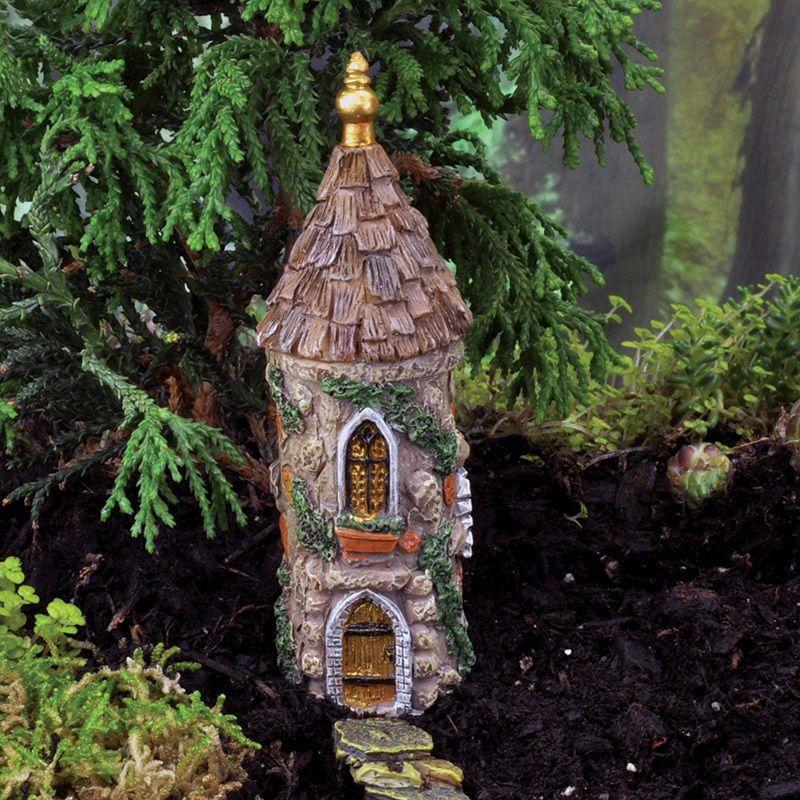 FAIRY GARDEN Miniature ~ Micro Mini Castle Tower ~ Mini Dollhouse