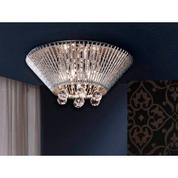 Plafón Moderno Cristal Medea #Ambar #Muebles #Deco #Interiorismo #Iluminacion | http://www.ambar-muebles.com/plafon-moderno-cristal-medea.html