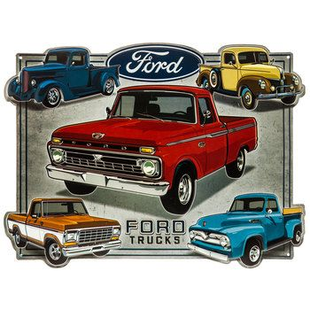 Ford Trucks Metal Sign Hobby Lobby 1282763 Vintage Trucks Classic Pickup Trucks Classic Chevy Trucks