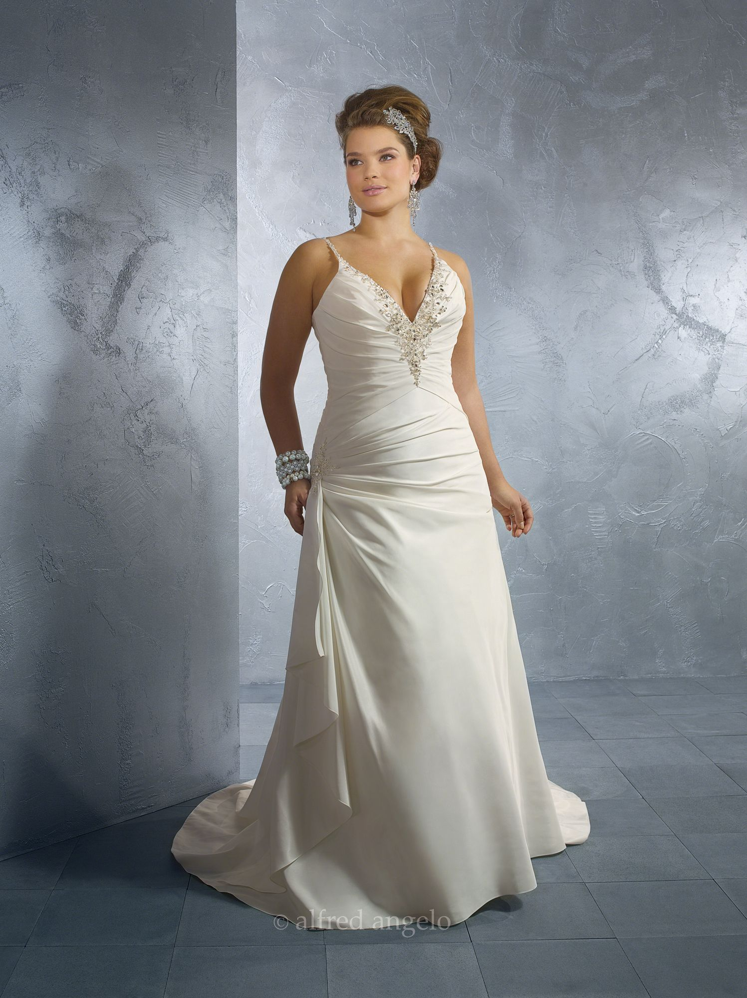 Alfred Angelo Plus Size Wedding Dresses - Style 2123W [2123W ...