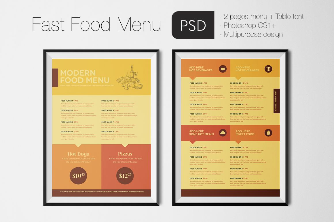 Fast Food Menu By Luuqas Design On Creativemarket  Cuba