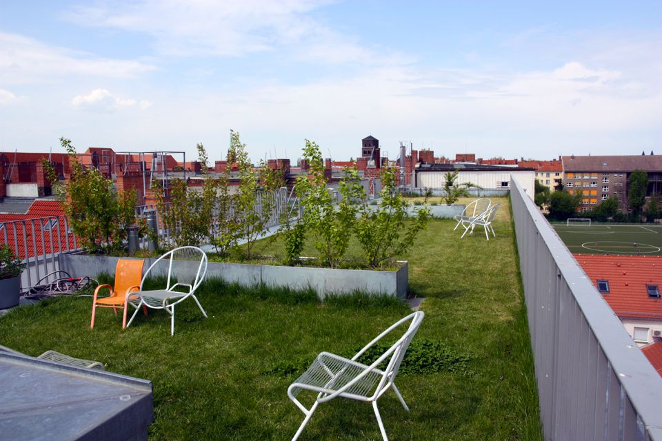 5 Lounge Dakterrassen : Collectief dakterras zelterstraße green roof architecture