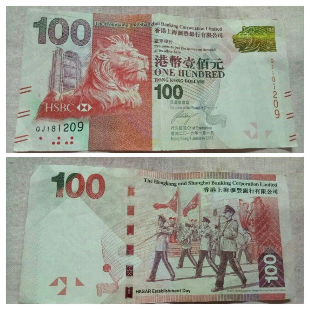100 Dollars H K A D 2016 Hong Kong Banknote Hong Kong Kong Bank Notes