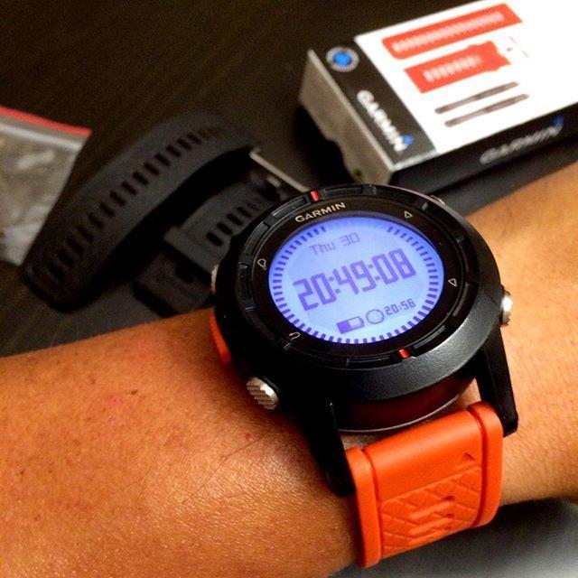 Easy swap of orange watch band for #Garmin #fenix #GPS #abc #watch #wristshot #bluetooth #notifications #smartwatch