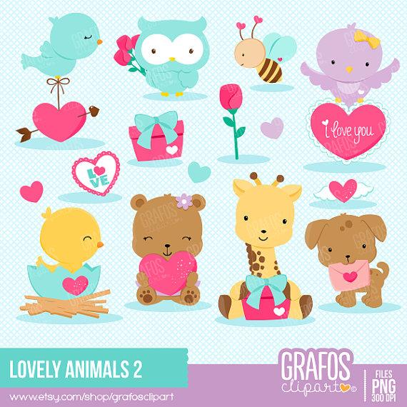 lovely animals 2 digital clipart set bear clipart