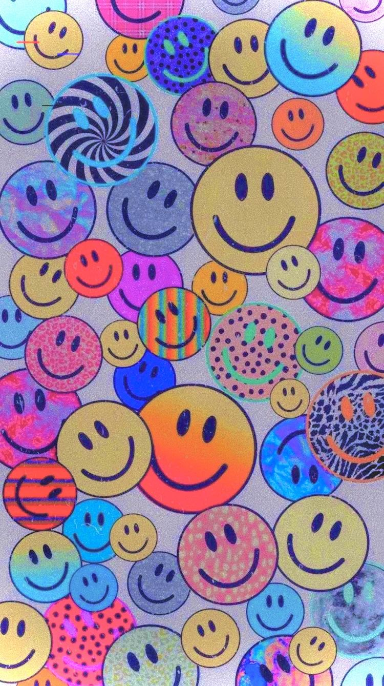 Smiley Face Aesthetic Wallpaper Neon In 2021 Hippie Wallpaper Wallpaper Iphone Christmas Simple Iphone Wallpaper