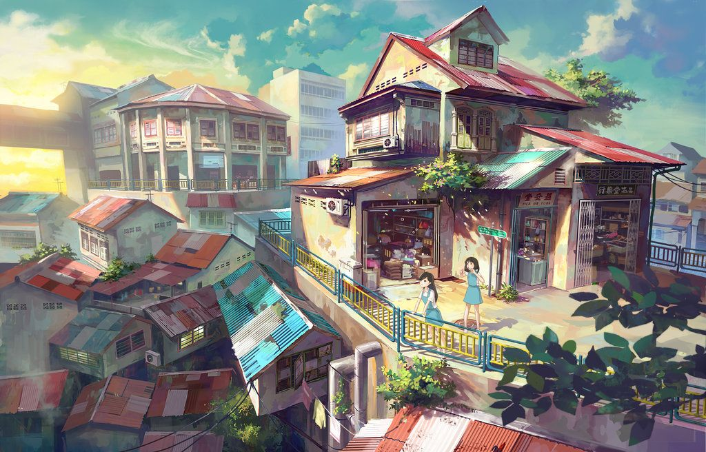 Shop By Feigiap On Deviantart Anime Scenery Wallpaper Anime Scenery Anime City