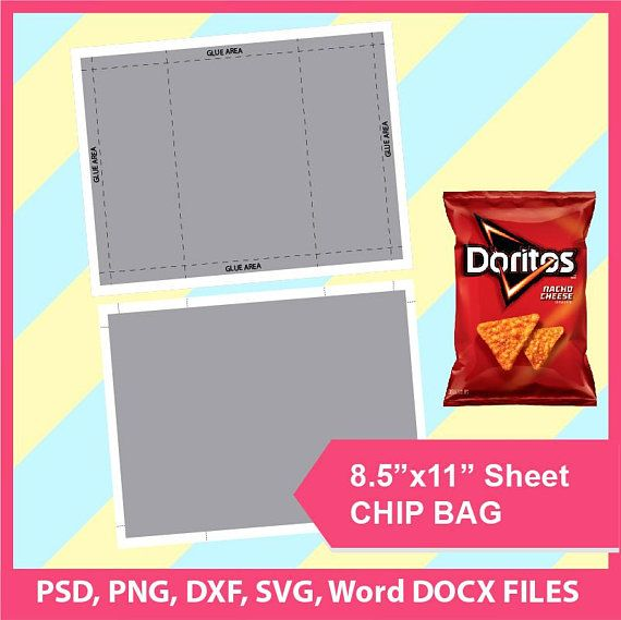 Download Chip Bag Template Psd Png Svg Dxf Microsoft Word Doc Etsy Templates Printable Free Digital Scrapbooking Templates Chip Bag