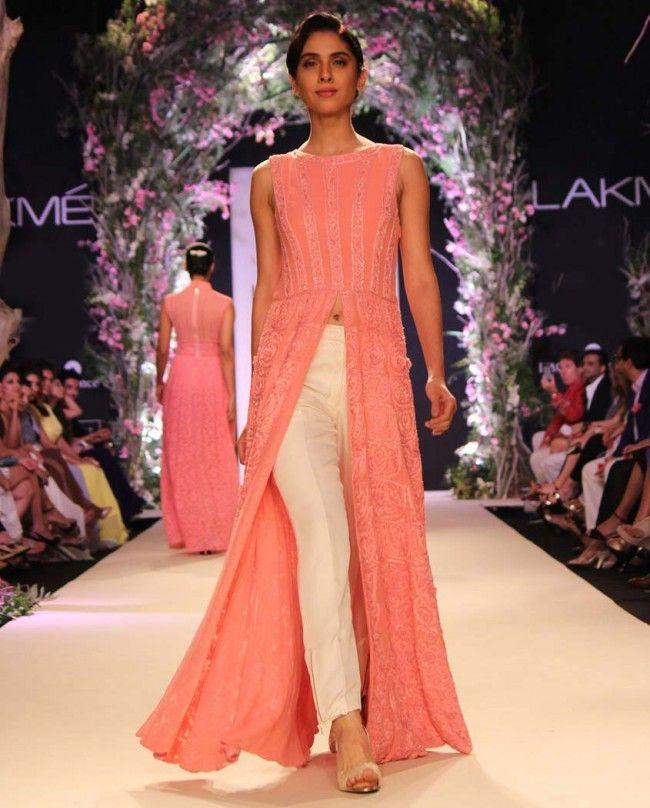Pink Georgette Embroidered Kurta- Buy Summer Affair \'14 Online ...