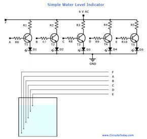 A simple water level indicator project with circuit diagram for home a simple water level indicator project with circuit diagram for home and industryis water ccuart Gallery