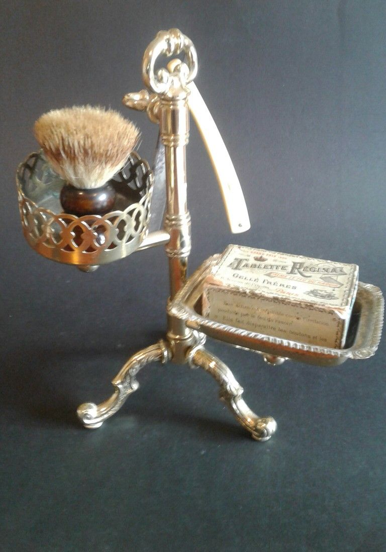 Brass stand for soap razor and brush у 2019 р.