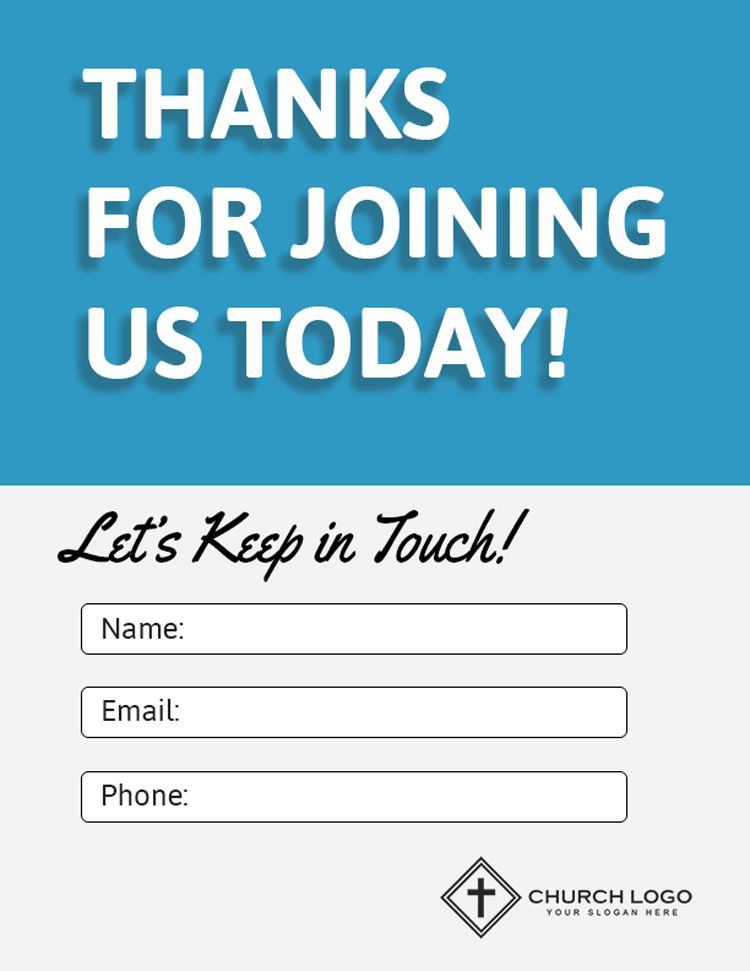 Free Church Connection Card Template from i.pinimg.com