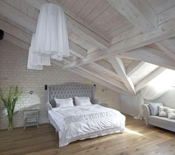 the white fabric lampshade