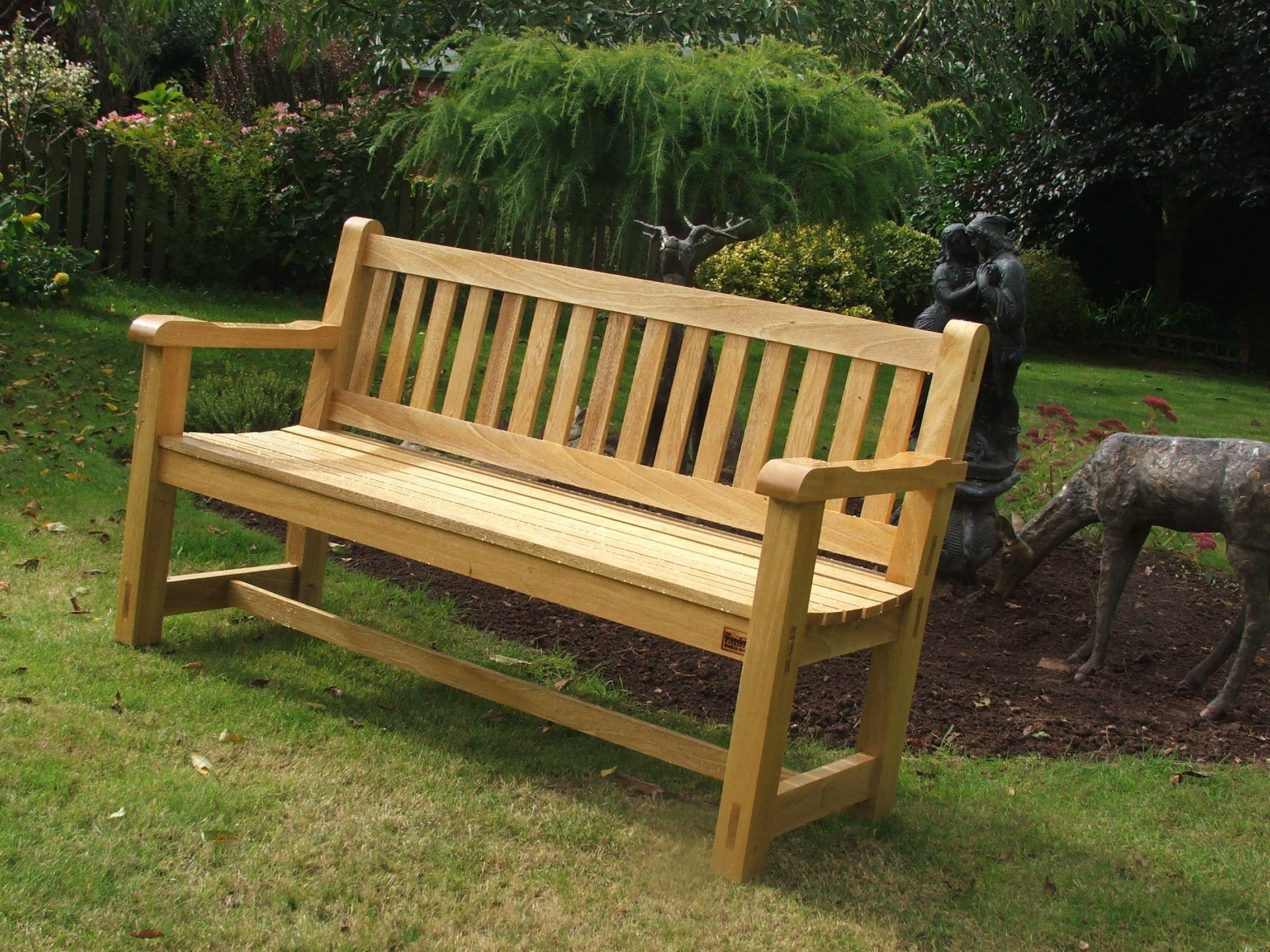 5ft Hardwood Garden Bench handmade Bampton Devon | Garden Benches ...