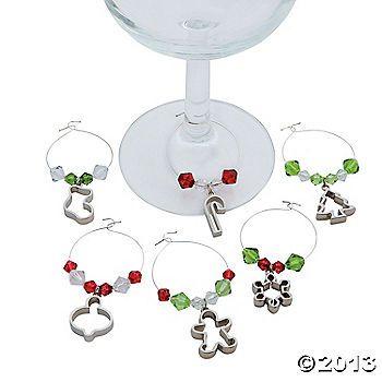christmas wine glass charms great gift idea - Christmas Wine Charms