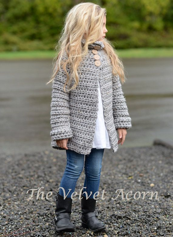 CROCHET PATTERN-The Verge Sweater (2, 3/4, 5/7, 8/10, 11/13, 14/16 ...