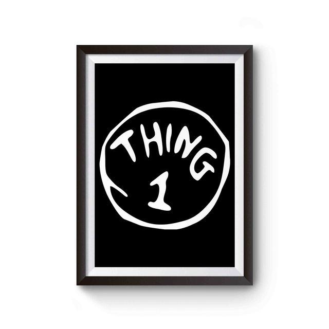 Thing 1 Dr Seuss Custom Animation Poster Poster On Custom Seuss