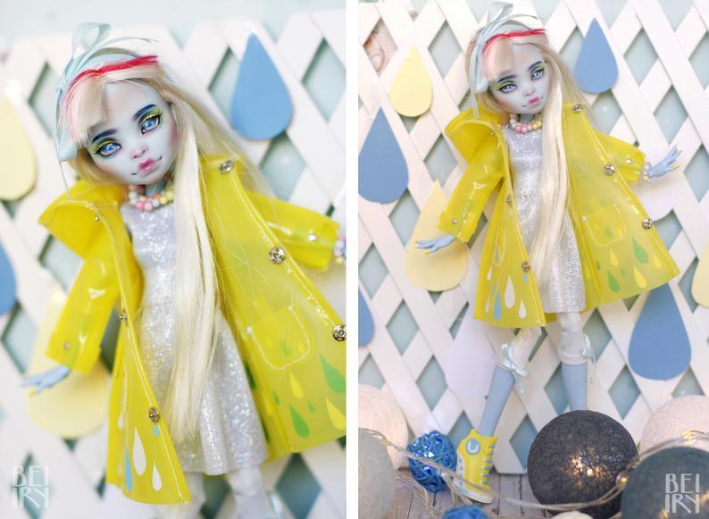 Monster high Abbey Bominable OOAK repaint custom doll #ooakmonsterhigh