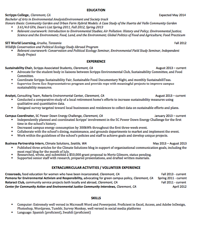 Sample Campus Coordinator Resume  HttpExampleresumecvOrg