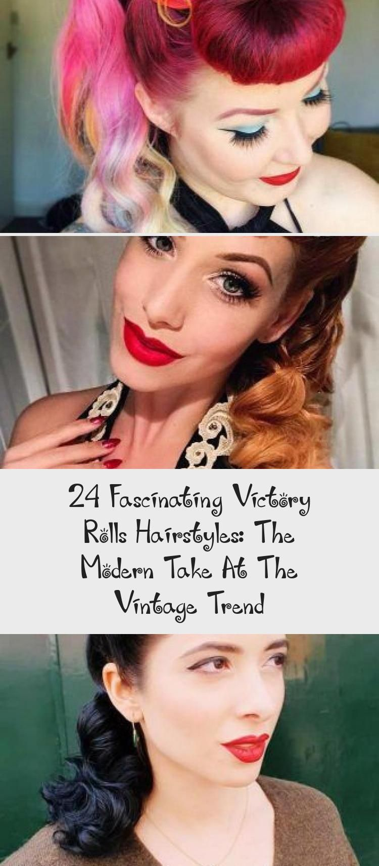 24 Fascinating Victory Rolls Hairstyles: The Modern Take At The Vintage Trend | Roll hairstyle ...