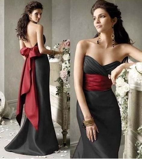 Black Dress With Red Sash So Pretty This Would Be A Good