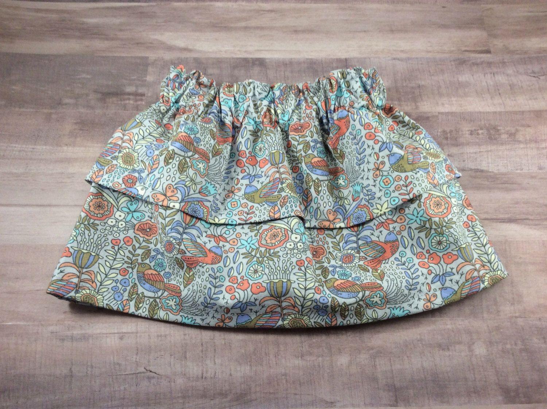 Two Tier Skirt- Baby Skirt- Toddler Skirt- Childrens Skirt- Baby Shower Gift by OllyandOlive on Etsy https://www.etsy.com/listing/494896329/two-tier-skirt-baby-skirt-toddler-skirt