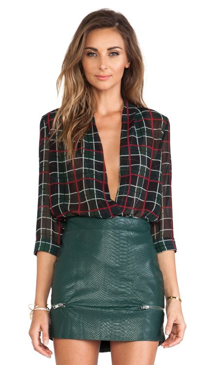 Lovers + Friends Get Down Blouse in Plaid | REVOLVE